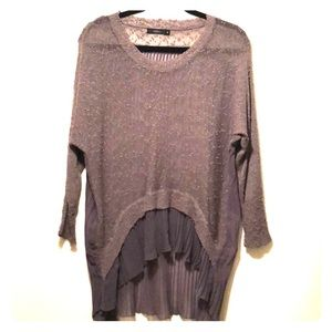 Sheer Taupe Sweater Blouse